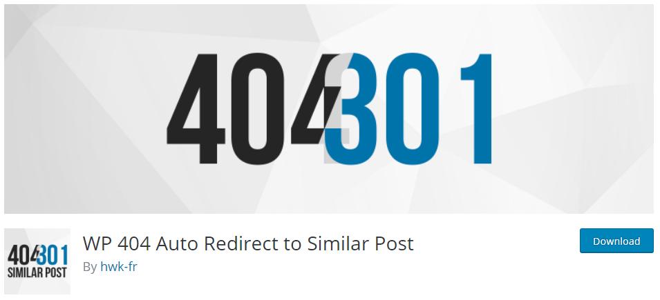 Plugin WordPress WP 404 Auto Redirect to Similar Post